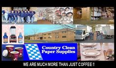 Country Clean Paper Supplies. WeSellCoffee.com    Someone put my families' business on pinterest! How cool is that?!