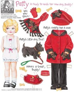 Not Betsy McCall, from the old McCall's magazine- definitely LOVE! Just perfection with her Scottie...