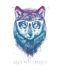 Arte WHO'S YOUR GRANNY? de Balazs Solti!! Disponível em camiseta, almofada, caneca e case de celular. Só na Touts!