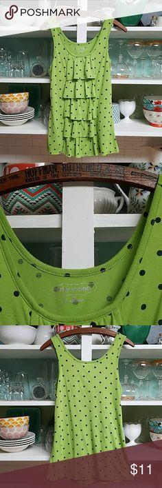I just added this listing on Poshmark: SUMMER'S END SALE! Green/Navy Polka dot sleeveless. #shopmycloset #poshmark #fashion #shopping #style #forsale #Maurices #Tops