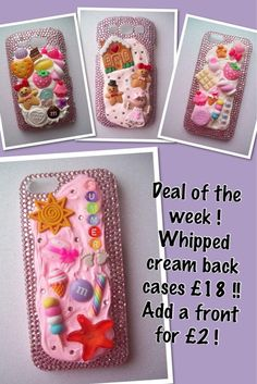 Twitter / glitterbugsbtq: Deal of the week Whipped cream back cases £18.00 add front for £2.00...