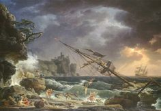 """"""" Claude-Joseph Vernet, French landscape & marine painter, born in 1714 """"The Shipwreck"""" Marine Painter, Marine Art, Painting, Traditional Paintings, National Gallery Of Art, Art, Seascape, Posters Art Prints, Art World"""