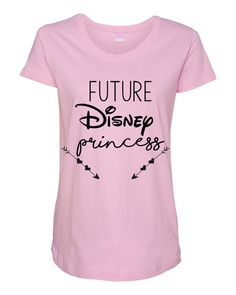 Perfect cute Disney shirt for the pregnant Disney Addict with a little disney princess on the way! Can be used as a pregnancy announcement, or as a shirt to wear around Disney