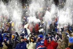 New England Patriots - - snow waves in Gillette Stadium, Foxborough, MA