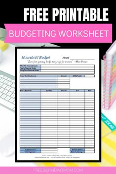 Use these free printable budget worksheet templates to keep your family's finances on track! Printable Budget Sheets, Printable Budget Worksheet, Budgeting Worksheets, Free Printables, Freebies By Mail, Household Budget, Money Saving Tips, Saving Ideas, Budgeting Finances