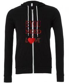 Love Zipper Hoodie