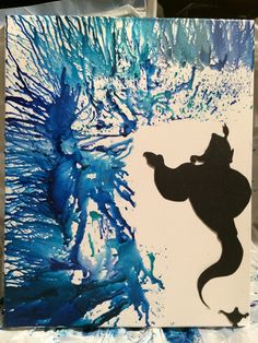 Today I felt as though I wanted to make a tribute for Mr. Williams. This is my melted crayon art inspired by genie from Aladdin.