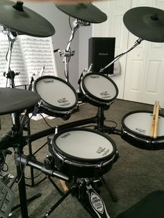 My Roland TD-15KV V-Drums with extra cymbal and CM-110 sound.