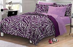Zebra Comforter Sheet Set, Multi-Colored