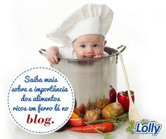 Você sabe qual é a importância do ferro na alimentação das crianças? No blog falamos sobre o assunto. Confira:   #Lolly #Alimentação #Ferro #Blog