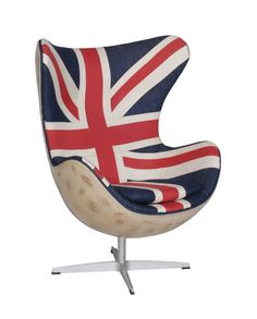 vintage british flag chair - Google Search
