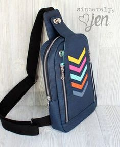 The Speedwell Sling Bag - PDF Sewing Pattern – Blue Calla Patterns Backpack Pattern, Crochet Handbags, Lining Fabric, Pdf Sewing Patterns, Sewing Clothes, Purses And Bags, Creations, Backpacks, Leather