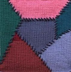 knitted quilt like intarsia