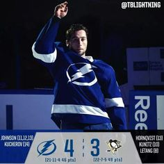 Congratulations Tyler Johnson on his 2nd career hat trick. Go Bolts.