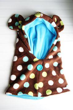 Childrens invierno Oso sudadera con capucha Capucha Fleece abrazo por POGOandPATCH