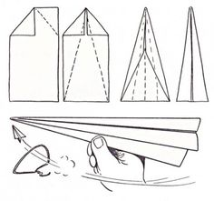 Printable Paper Airplane Template  Absolutely Doing Today