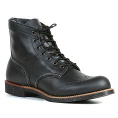 1cfad9ef21cc6a Red Wing Heritage Men s  Ranger  Black Leather Wing Tip Boots