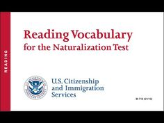 Reading Vocabulary for the US Citizenship Naturalization Test 2015, 2016 (OFFICIAL) - YouTube