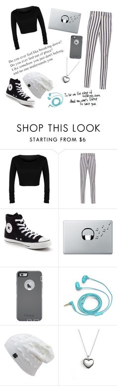"""""""Kaitlin's outfit"""" by maydoll on Polyvore featuring Dondup, Converse, Music Notes, OtterBox, FOSSIL and Pandora"""