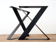 28 H X 24 W X-frame Wide Flat Steel Table Legs