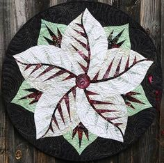 Poinsettia, Quiltworx.com, Made by CI Dianne Kinsey Table Topper Patterns, Table Toppers, Leaf Projects, Projects To Try, Foundation Paper Piecing, Poinsettia, Fiber Art, Fabric Design, Quilt Patterns