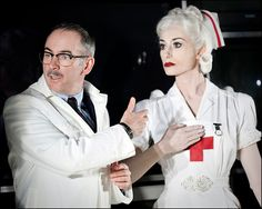 "Vintage-style nurse uniform worn by Michela Meazza in the 2010 play ""Really Old, Like Forty-Five"""