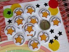 ⭐️ Teaching Assistant Badges ✏️ 🌈 . . . . #badgesforschool #teacher #ilovemyjob #bestjob #youarevital #25mm #badgemaker #ukhandmade #teachingassistant #TA #badges #school #star #class #handmade #thankyou #keyworker #buttonbadges #shopsmall Badge Maker, School Badges, Button Badge, Teaching, Handmade, Hand Made, Badge, Badge Creator, Education