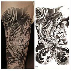 LZC nouveau 12x19cm adulte tatouage temporaire pour l'épaule et décoration royale pour parti vacances tatouages épaule homme et de femme…