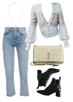 """""""Untitled #2146"""" by kellawear ❤ liked on Polyvore featuring Yves Saint Laurent and Gucci"""