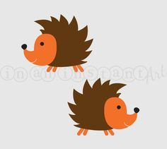 Hedgehog Vinyl Wall Decal for a Woodland or by InAnInstantArt