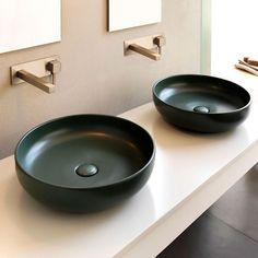 Rundes Aufsatzwaschbecken aus Keramik Kollektion Shui by Ceramica Cielo   Design Paolo D'Arrigo