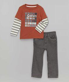 Product Code: CKJX-00007 Item Description:Orange&Grey Striped Tee and Classic Jeans橙色+灰色間條汗衫牛仔褲 Size:18M(18Months, 76.2-81.3cm) Price:HK$355 Whatsapp :(+852) 6924-3068 http://www.facebook.com/BeesyTots