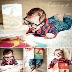 I'm pinning this so that I remember to put my kids in hipster glasses. This is adorable! Lindsey Ault Photography.