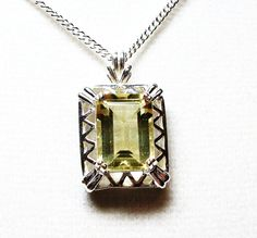Citrine pendant w/ 18 heavy curb chain    Lemon by Michaelangelas, $94.50