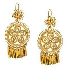 Mexican Filigree Earrings from Oaxaca
