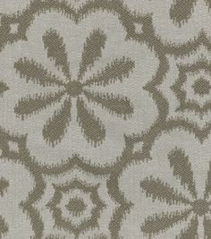 HGTV Home Upholstery Fabric Mod Metal Pewter