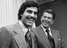 The man - Mark Spitz  and Ronald Reagen two of my favorite men!