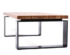 Welded Furniture, Steel Furniture, Unique Furniture, Diy Furniture, Furniture Design, Unique Dining Tables, Metal Dining Table, Wood Slab Table, Wood Wood