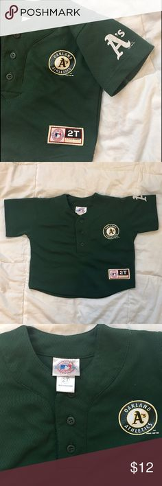 BOGO 50% off MLB OAKLAND A's Top  size: 2T MLB OAKLAND A's Top  size: 2T   For that Little A's fan. Shirts & Tops