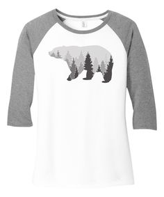 Look what I found on #zulily! TKO tees White & Gray Frost Bear Trees Raglan Tee by TKO tees #zulilyfinds