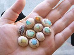 Opals that look like mini hatching dragon eggs.
