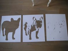 FAKE stencil in the making by .FAKE., via Flickr