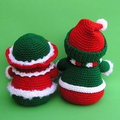 PDF Crochet Pattern Mr and Mrs WINTERS Snowmen by bvoe668 on Etsy
