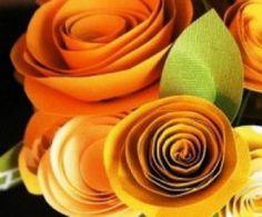Růžičky z papíru
