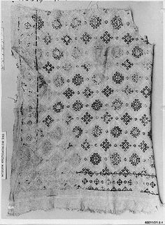 Fragment  Object Name: Fragment  Date: 10th–11th century  Geography: Egypt  Medium: Linen, wool; embroidered  Dimensions: 31 1/8 in. high 29 15/16 in. wide (79 cm high 76 cm wide)  Classification: Textiles  Accession Number: 21.6.4