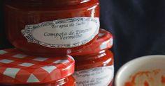 Ingredientes   1kg. de pimentos vermelhos (depois de limpos de sementes e da membrana branca interior deverá render 800gr. aproximada...
