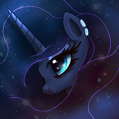 MLP FIM - The Galaxy Of Princess Luna by Joakaha.deviantart.com