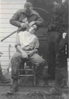 If you're going to shave, forget the Bowie knife; use an ax.