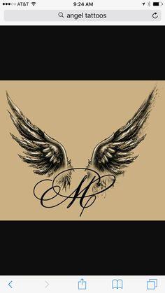 Im Gedenken an Frank initial tattoo Bodysuit Tattoos, Baby Tattoos, Wrist Tattoos, Small Tattoos, Sleeve Tattoos, Alas Tattoo, Tattoo Mutter, Initial Tattoo, Diy Tattoo Permanent
