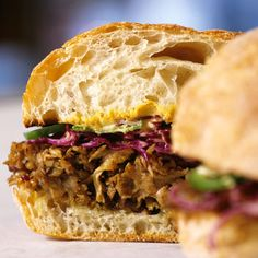 Slow-Roasted Pork with Red Cabbage, Jalapeños, and Mustard